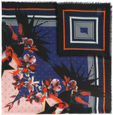 Givenchy floral star print scarf - women - Silk/Cashmere/Virgin Wool - One Size
