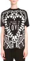 Givenchy Short-Sleeve Love Graphic Tee, Black