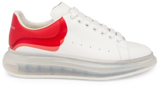 Alexander McQueen Men's Oversized Gel Sole Leather Platform Sneakers
