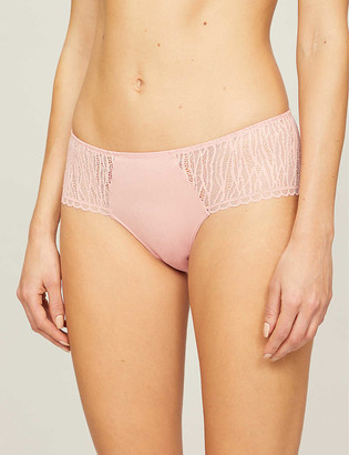 Passionata Ironic stretch-jersey and lace briefs