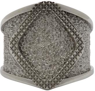 Bottega Veneta Silver Diamond Face Ring