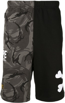 Aape By *A Bathing Ape® Camouflage Track Shorts
