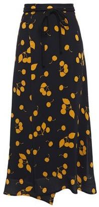 3.1 Phillip Lim Wrap-effect Printed Crepe Midi Skirt