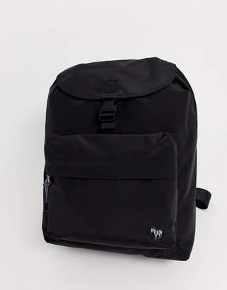 Paul Smith zebra logo nylon backpack in black
