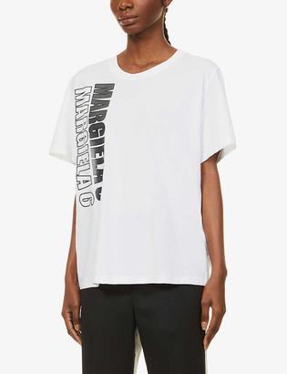 MM6 MAISON MARGIELA Logo-printed cotton-jersey T-shirt
