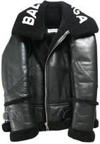 Balenciaga Black Shearling Coats
