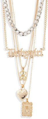 8 Other Reasons Aretha Layered Babygirl Pendant Necklace