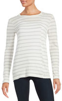 DKNY Striped Knit Top
