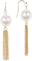 Natasha Accessories Faux Pearl Tassel Drop Earrings