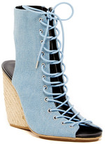Rebecca Minkoff Elle Lace-Up Wedge Bootie