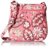 Vera Bradley Petite Double Zip Hipster Crossbody Bag