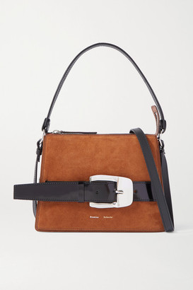 Proenza Schouler Buckle Large Leather-trimmed Suede Shoulder Bag - Brown