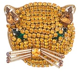Gucci Cat crystal-embellished brooch