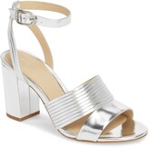 Thumbnail for your product : Etienne Aigner Layla Metallic Leather Ankle Strap Sandal