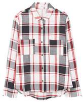 Mango Outlet Check cotton shirt
