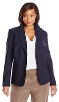 Jones New York Women's Plus-Size Washable Wool-Blend Jacket