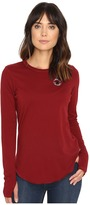 Converse Left Chest Core Patch Logo Long Sleeve Tee