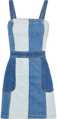 Alice + Olivia Jamiee Paneled Denim Mini Dress