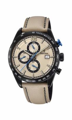 Festina Mens Chronograph Quartz Watch with Leather Strap F20344/1