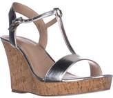 Charles David Charles Libra Wedge Sandals, Silver Metalic, 9.5 US