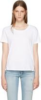 Amo White Twist Cut-out T-shirt