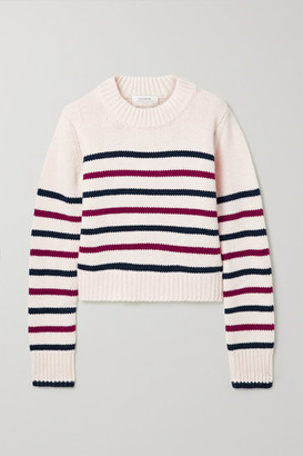 La Ligne Mini Marin Striped Wool And Cashmere-blend Sweater - Ivory