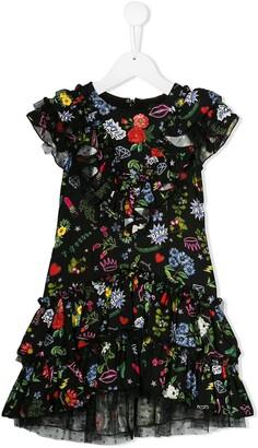 MonnaLisa multi print party dress