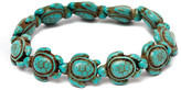 Amy and Annette Anklets Green - Imitation Turquoise Hawaiian Sea Turtle Stretch Anklet