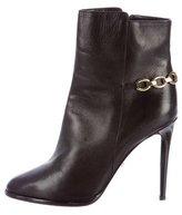 Diane von Furstenberg Leather Round-Toe Ankle Boots