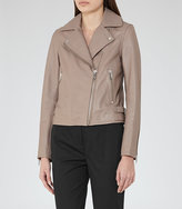 Reiss Ellen Leather Biker Jacket