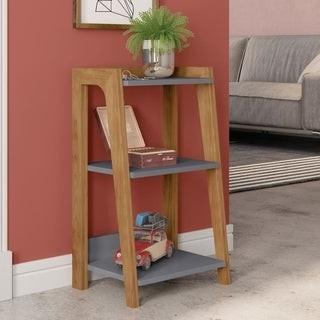 Manhattan Comfort Gowanus Modern Ladder 3 Shelf Side Table