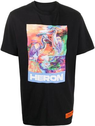 Heron Preston crew neck heron print T-shirt