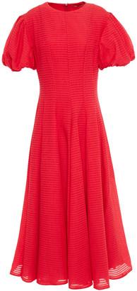 Emilia Wickstead Doreen Pleated Organza-seersucker Midi Dress