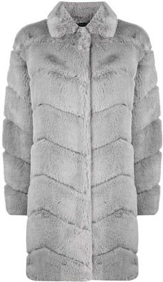 Diane von Furstenberg Padded Faux-Fur Coat