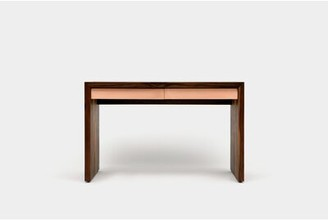"""Artless SQM Solid Wood Writing Desk Size: 30"""" H x 48"""" W x 24"""" D, Color: Brushed Rose Gold"""