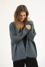 Busby & Fox - Dina Chunky Knit Cardigan - L-XL | teal - Rust/Nude/Teal