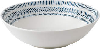 ED Ellen Degeneres Crafted by Royal Doulton Cobalt Blue Chevron Cereal Bowl