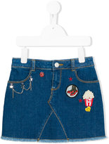Little Marc Jacobs patch denim skirt