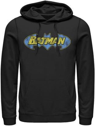 Dc Comics Men's DC Comics Batman Bold Distressed Text Logo Hoodie
