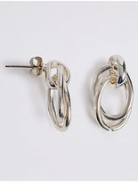 M&S Collection Silver Plated Loose Links Stud Earrings