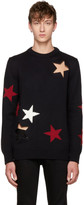Givenchy Black & Red Stars Sweater