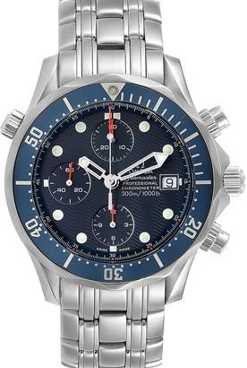 Omega Blue Stainless Steel Seamaster Bond Chrono 2599.80.00 Men's Wristwatch 41.5 MM
