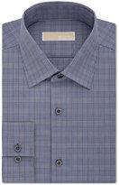 MICHAEL Michael Kors Men's Slim-Fit Navy Check Dress Shirt