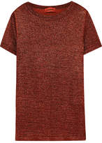 Missoni Metallic Stretch-knit T-shirt - Bronze