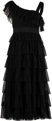 RED Valentino Ruffled Skirt Tulle Dress