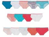 Hanes Girls Hipster Stars and Print Underwear, 14 Pack Panties (Little Girls & Big Girls)