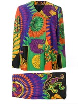 Versace Pre Owned 1990's printed skirt suit