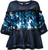 Twin-Set oversized sequin embellished blouse - women - Cotton - 40