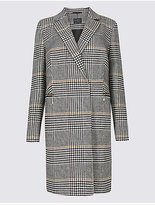 M&S Collection 2 Pocket Printed Coat