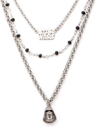 Star Wars FINE JEWELRY Stainless Steel Darth Vader 3-Tiered Pendant Necklace